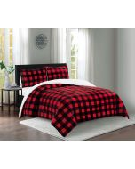 Lady Sandra Home Sherpa Comforter & Sham Set Queen