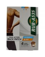 Rub A535 Dual Action Back & Hip Patch 10 X 21 cm 4 Patches