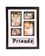 Friends Collage 4 Pictures Photo Frame Black