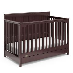 Graco Hadley 4 In 1 Convertible Crib With Bottom Drawer Espresso