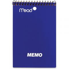 Mead 4 Inch X 6 Inch Coil Memo Book 40 Pages Assorted Colours