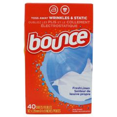 Bounce Dryer Sheets Outdoor Fresh Scent Fabric Softener 40 Pack