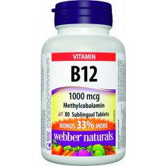 Webber Naturals Vitamin B12 Methylcobsalamin 1000 mg - Vitamin