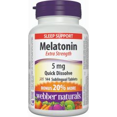 Webber Naturals Melatonin Extra Strength 5 mg - Sleep Support