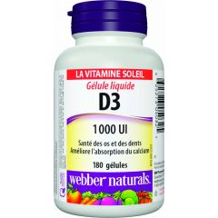 Webber Naturals Liquid Softgel Vitamin D3 1000 IU - The Sunshine Vitamin