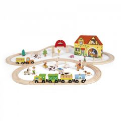 Janod Story Express Farm Building Block