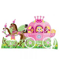 Janod Princess' Coach Hat Boxed Floor Puzzle