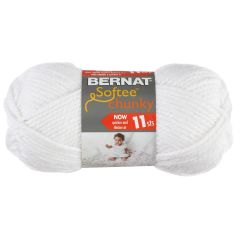 Bernat Softee Chunky Yarn 100g White