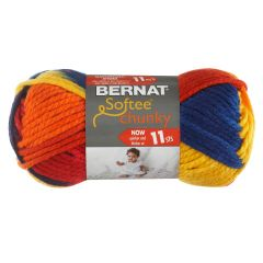 Bernat Softee Chunky Ombre Yarn 80g School Yard