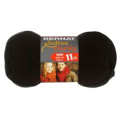 Bernat Softee Chunky Yarn 100g Black