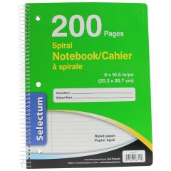 Selectum 7 mm Ruled Spiral Notebook 200 Pages