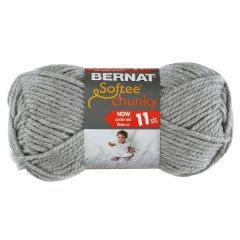 Bernat Softee Chunky Yarn 100g Grey Heather