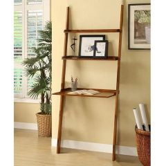 Mintra 3 Tier Leaning Wall Shelf Mahogany