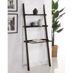 Mintra 3 Tier Leaning Wall Shelf Walnut