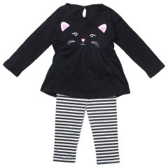 Mini Made Cat Legging and Long Sleeve T-Shirt Set