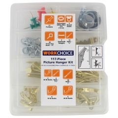 Work Choice Picture Hanging Kit 117Pc