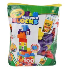 Crayola Kids @ Work Colour Your Own Building Blocks with Tote