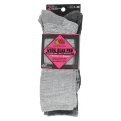 Fruit Of The Loom Work Gear Pro For Women Socks 2 Pack Gray