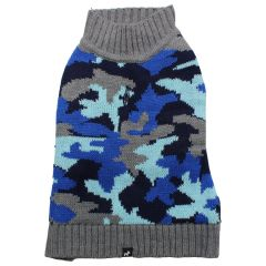 Hotel Doggy Eclipse Camouflage Sweater Blue