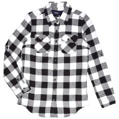 Inso Collection Flannel Plaid Button Front Long Sleeve Shirt