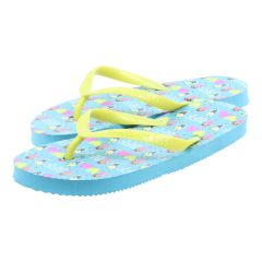 Chatties BFF Design Flip Flops Blue