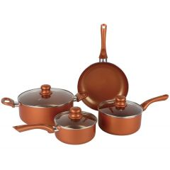 Brentwood Non-Stick Copper Cookware Set 7Pc