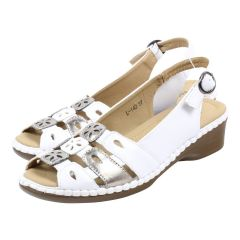 Sole-Flex Comfort Sling Back Sandal White