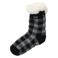 Women's Sherpa Lined Slipper Socks Plaid