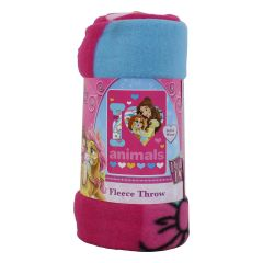 Princess Palace Pets Fleece Throw 45 inch X 60 inch
