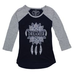 Fab-You-Lous Dreamer Raglan Style Long Sleeve T Shirt Size 7-14