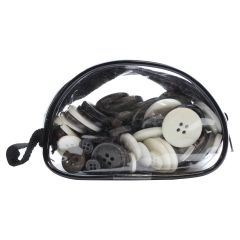Fashion Buttons Kit Black and White