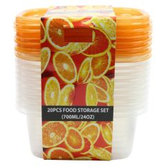 Food Storage Container 20 Piece Set 700ml