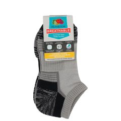 Fruit of the Loom Breathable No Show Ankle Sock 3Pk Size 7-8.5
