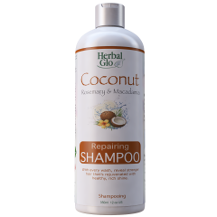 Herbal Glo Repairing Shampoo with Coconut, Rosemary & Macadamia 350ml