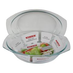 Oval Glass Casserole with Lide 2.5L
