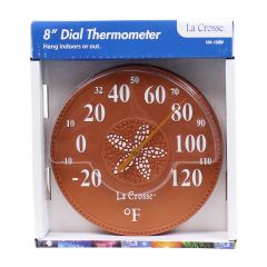 La Crosse Decorative Indoor/ Outdoor Thermometer 8in