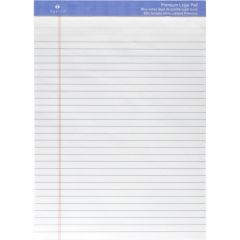 Sparco Premium Letter Size Ruled Legal Pad White
