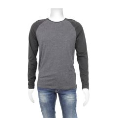 The Raglan Ringer Crew Men's Long Sleeve Black
