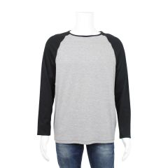 The Raglan Ringer Crew Men's Long Sleeve Grey