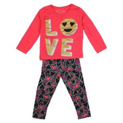 Mini Made Love Legging and Long Sleeve T-Shirt Set