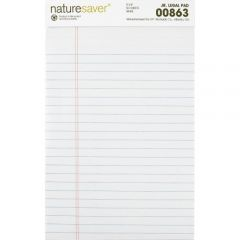 Nature Saver 100% Recycled Ruled Legal Pad White