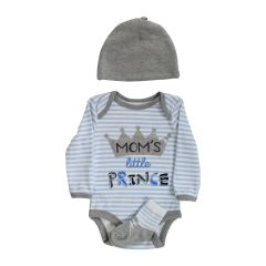 Baby Mode Bodysuit, Hat & Booties 3 Piece Set