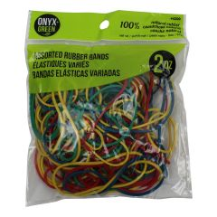 Onyx + Green 100% Natural Rubber Bands Assorted