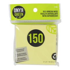 Onyx + Green Self-Adhesive Notes 150Pk