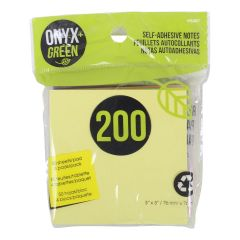 Onyx + Green Self-Adhesive Notes 200Pk