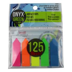 Onyx + Green Self Adhesive Arrow Strips 125Pk
