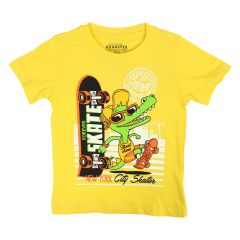 Roadster Est. 1955 Printed T Shirt Yellow