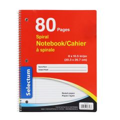 Selectum Coil Notebook 80 Pages Red