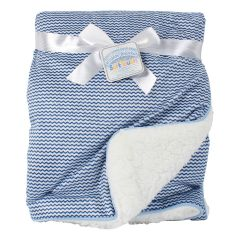 Soft Touch Mink & Sherpa Baby Blanket