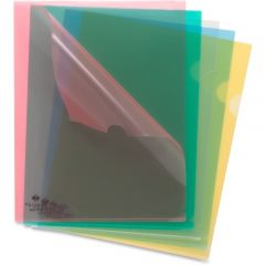 Sparco Transparent Poly File Holders Letter Size Assorted  Colours 5 Pack